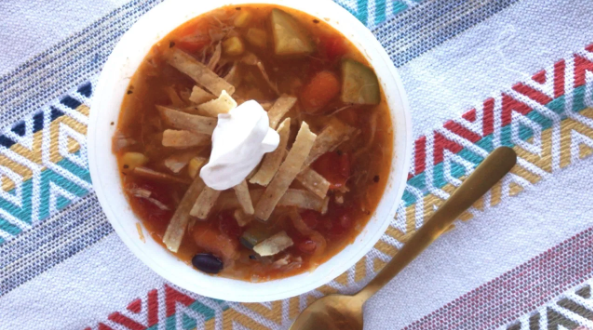 Clean Out The Kitchen Tortilla Soup